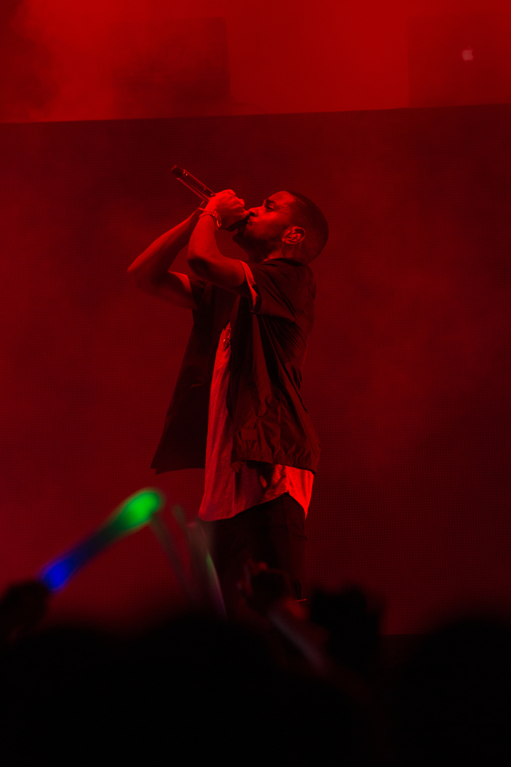 Singer Big Sean performs at Party In The Park at The University of Tampa in Florida. Photograph by Alex Jackson.