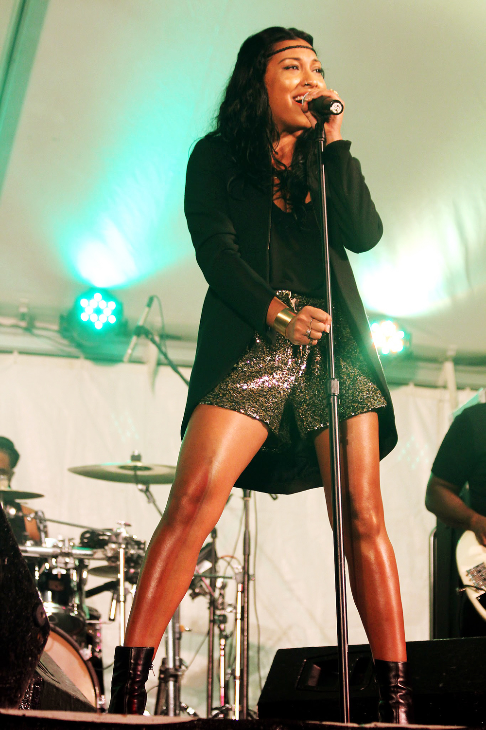 Grammy-Award winning singer Melanie Fiona performs at the 2013 Naniki Caribbean Jazz Safari held at Ilaro Court on January 20th in Barbados.